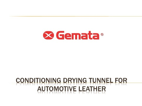 Conditioning drying tunnel for automotive leather